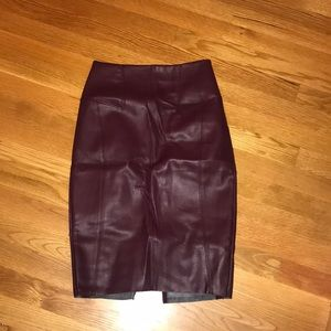 Express: Pencil Leather Skirt